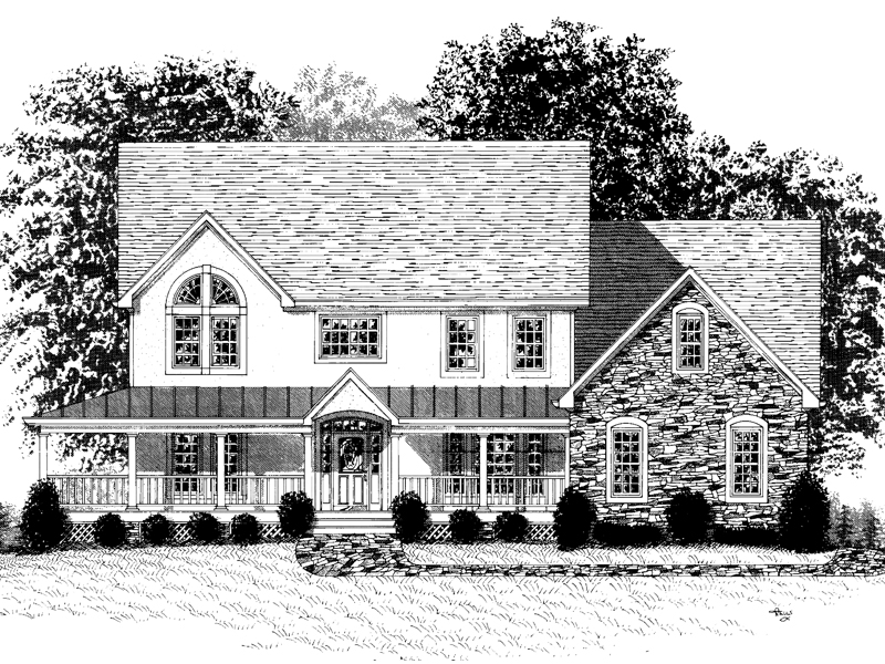 Farmhouse Plan Front Image of House - 013D-0111 | House Plans and More