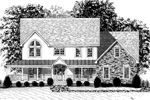 Tudor House Plan Front Image of House - 013D-0111 | House Plans and More