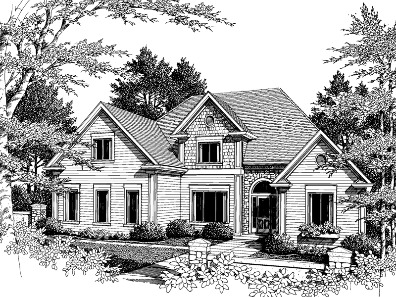 Traditional House Plan Front Image of House - 013D-0113 | House Plans and More