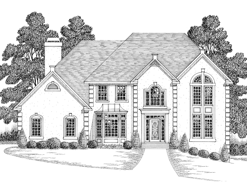 Georgian House Plan Front Image of House - 013D-0114 | House Plans and More