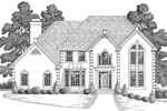 Greek Revival Home Plan Front Image of House - 013D-0114 | House Plans and More
