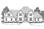 Luxury House Plan Front Image of House - 013D-0116 | House Plans and More