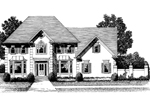 Luxury House Plan Front Image of House - 013D-0117 | House Plans and More