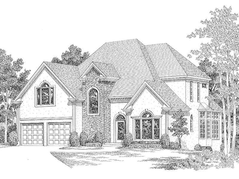 European House Plan Front Image of House - 013D-0118 | House Plans and More