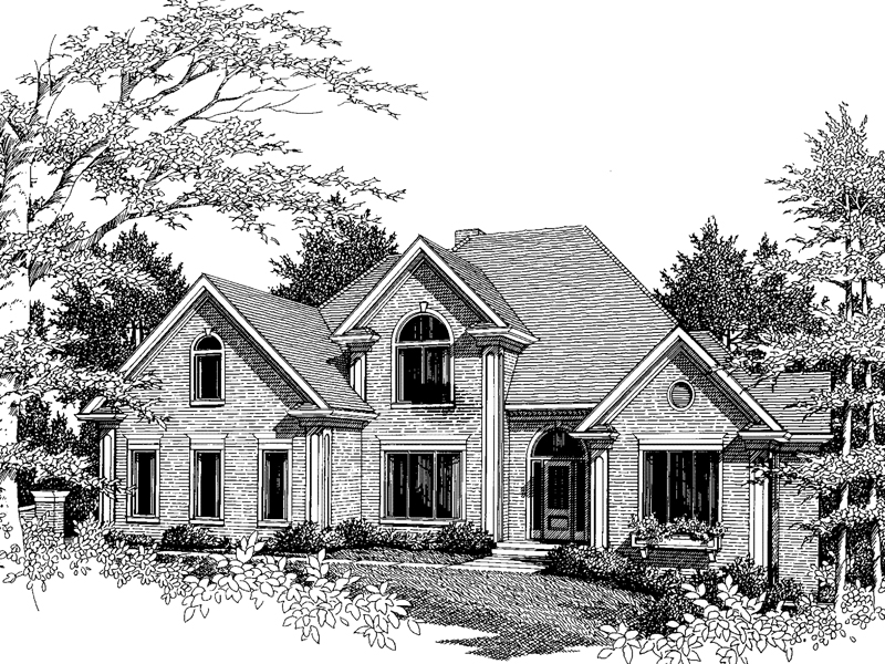 Southern House Plan Front Image of House - 013D-0119 | House Plans and More