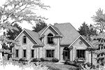 Colonial House Plan Front Image of House - 013D-0119 | House Plans and More