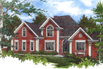 Brick Traditional Two-Story Home