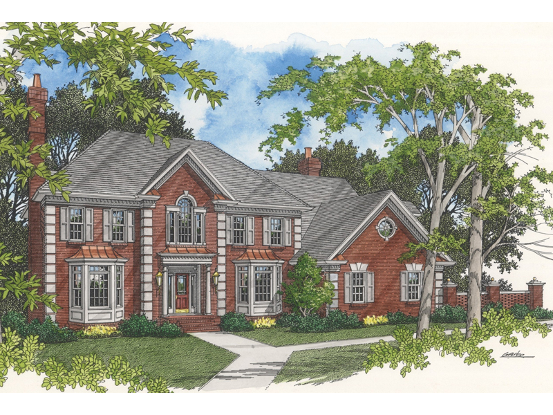 Traditional House Plan Front of Home - 013D-0120 | House Plans and More