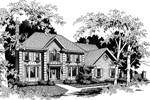 Colonial Floor Plan Front Image of House - 013D-0120 | House Plans and More