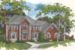 Two-Story Brick Traditional Home
