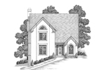 Traditional House Plan Front Image of House - 013D-0121 | House Plans and More