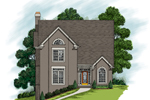 Two-Story Stucco Home Great For A Narrow Lot