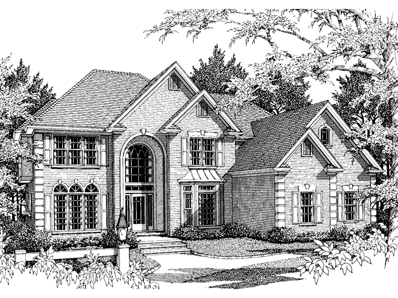 Traditional House Plan Front Image of House - 013D-0122 | House Plans and More