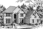 Country French Home Plan Front Image of House - 013D-0122 | House Plans and More