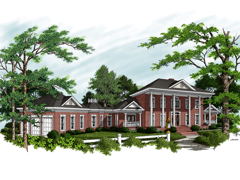 Colonial House Plan Front of Home - 013D-0123 | House Plans and More
