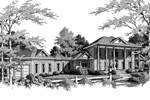 Plantation House Plan Front Image of House - 013D-0123 | House Plans and More