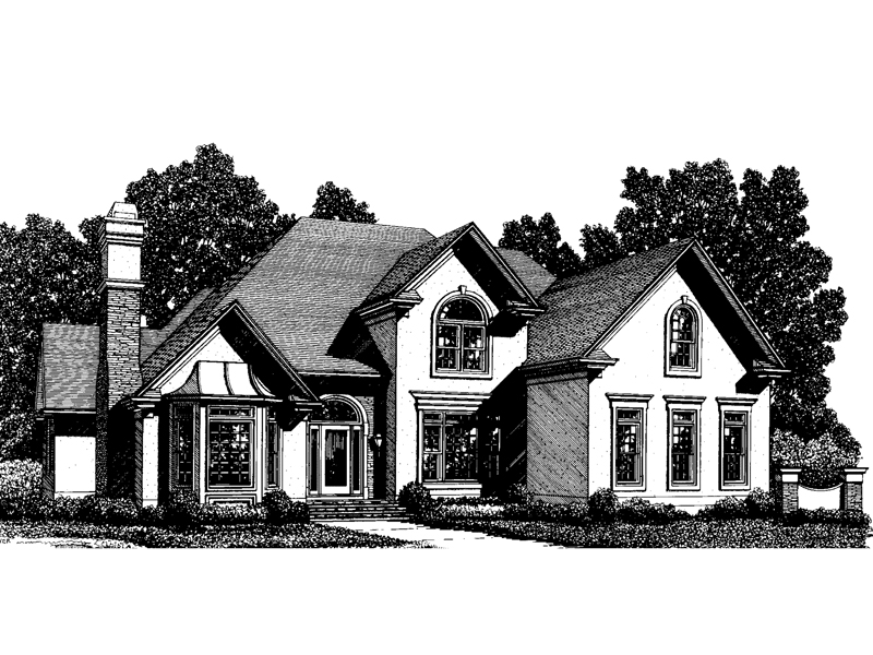 European House Plan Front Image of House - 013D-0124 | House Plans and More