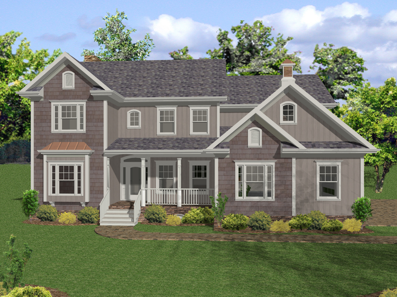 Shingle Style Two-Story Southern Home