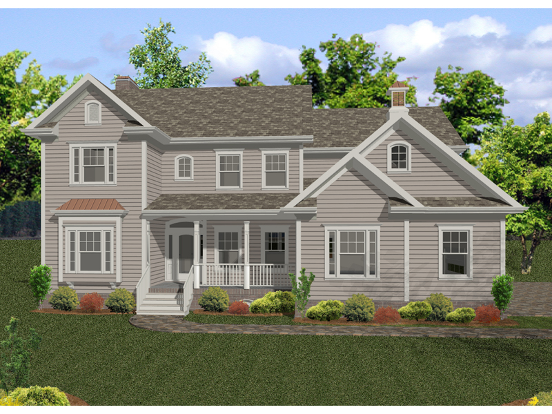 Two-Story Country Home With Siding