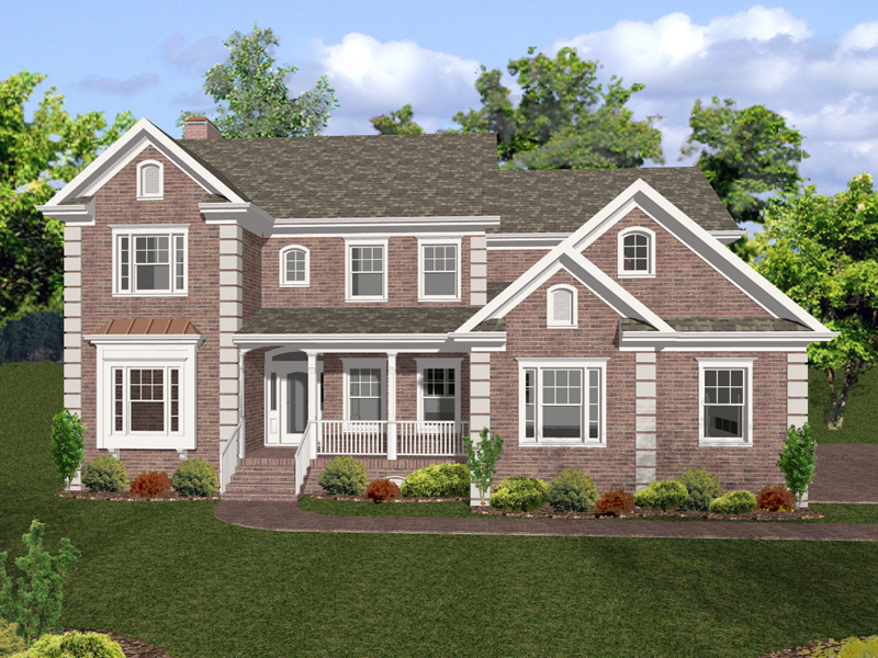 Traditional House Plan Front of Home 013D-0128