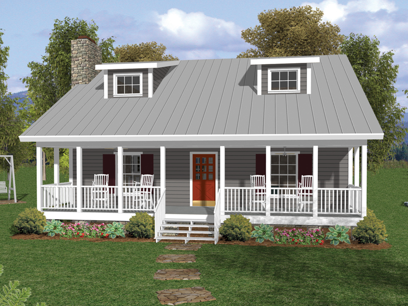 Sapelo southern bungalow home plan 013d 0129 house plans for Reverse one and a half story house plans