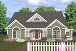Symmetrical Ranch Home With Triple Gables