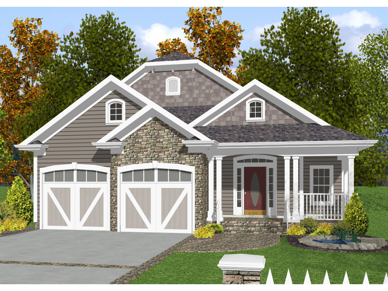 Craftsman House Plan Front of Home 013D-0132