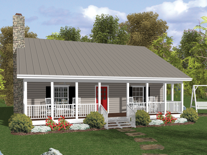 Vacation Home Plan Front of Home 013D-0133