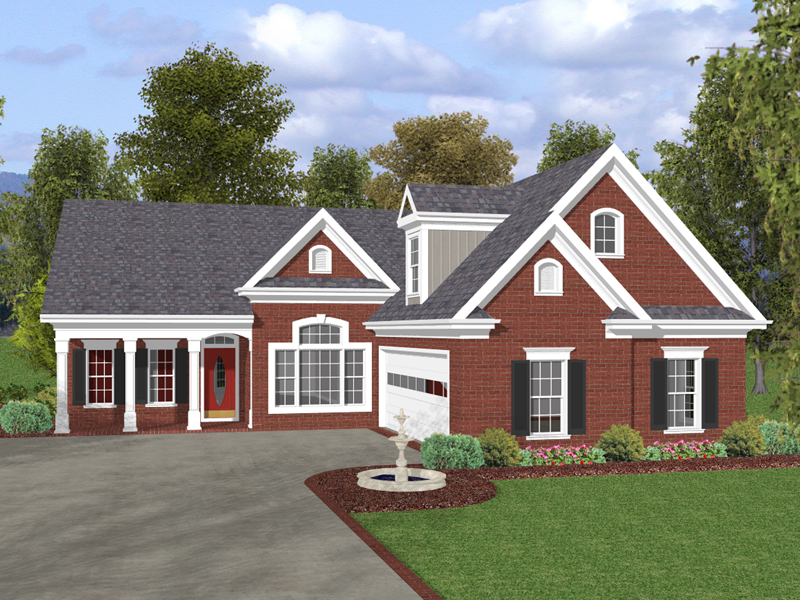Bowman park ranch home plan 013d 0135 house plans and more for House plans with side garage