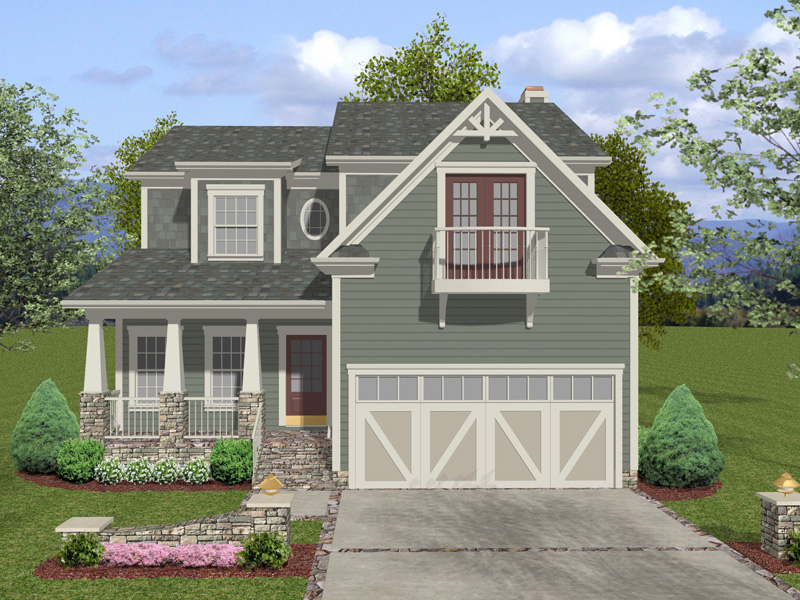 Charming Craftsman Two-Story With Stone And Great Trim Details