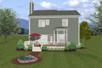 Traditional House Plan Color Image of House - 013D-0149 | House Plans and More