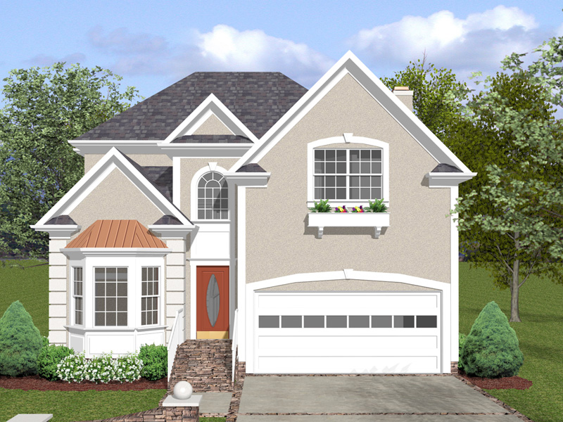 Traditional House Plan Front of Home 013D-0150