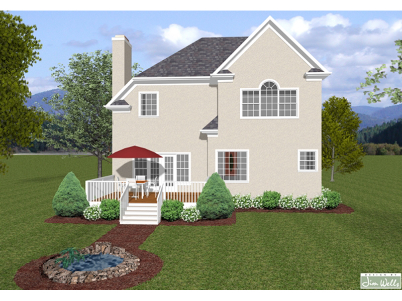 Traditional House Plan Color Image of House 013D-0150