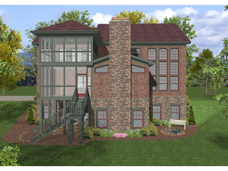 Colonial House Plan Color Image of House - 013D-0152 | House Plans and More