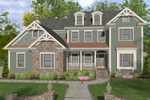 Colonial House Plan Front Image - 013D-0153 | House Plans and More