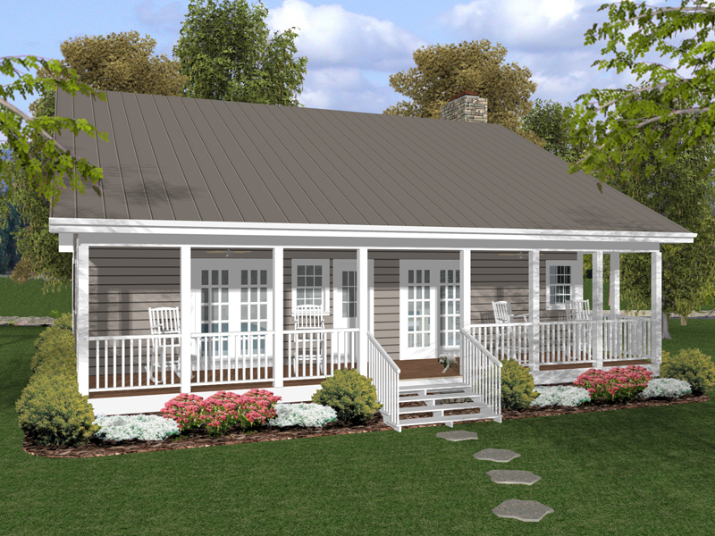 Cabin and Cottage Plan Color Image of House - 013D-0154 | House Plans and More