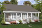 Ranch House Plan Color Image of House - 013D-0154 | House Plans and More