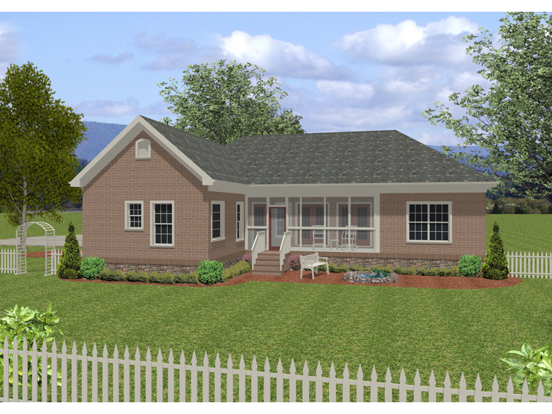Ranch House Plan Color Image of House - 013D-0155 | House Plans and More