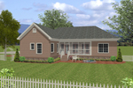 Traditional House Plan Color Image of House - 013D-0155 | House Plans and More