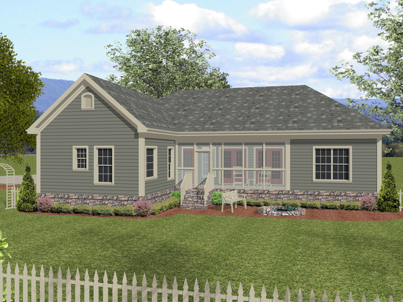 Ranch House Plan Color Image of House 013D-0156