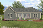 Ranch House Plan Color Image of House - 013D-0156 | House Plans and More
