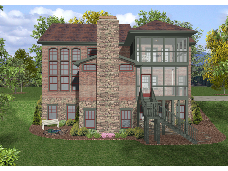 European House Plan Color Image of House - 013D-0157 | House Plans and More