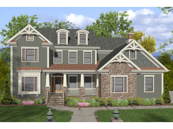 Dawson pass craftsman home plan 013d 0158 house plans for Two story craftsman