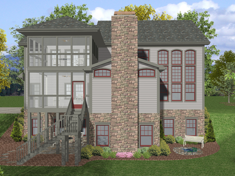 Arts & Crafts House Plan Color Image of House - 013D-0158 | House Plans and More