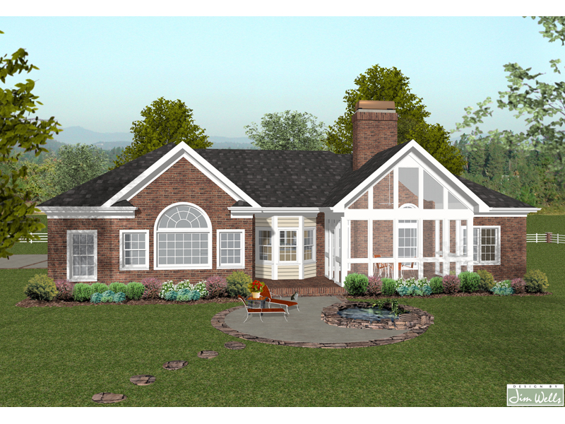 Traditional House Plan Color Image of House 013D-0159
