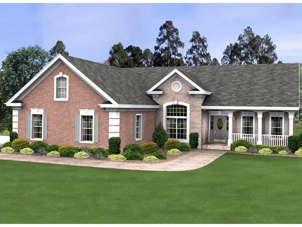 Buchanan European Ranch Home Plan 013D 0160 House Plans