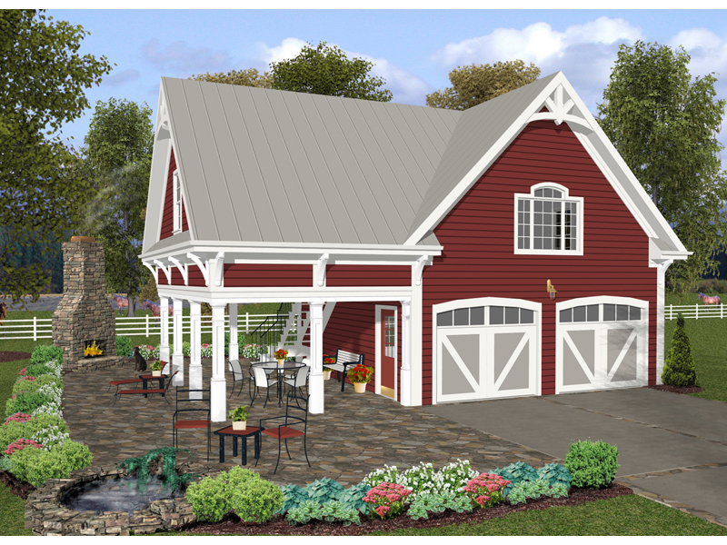 Ranch House Plan Front of Home 013D-0161