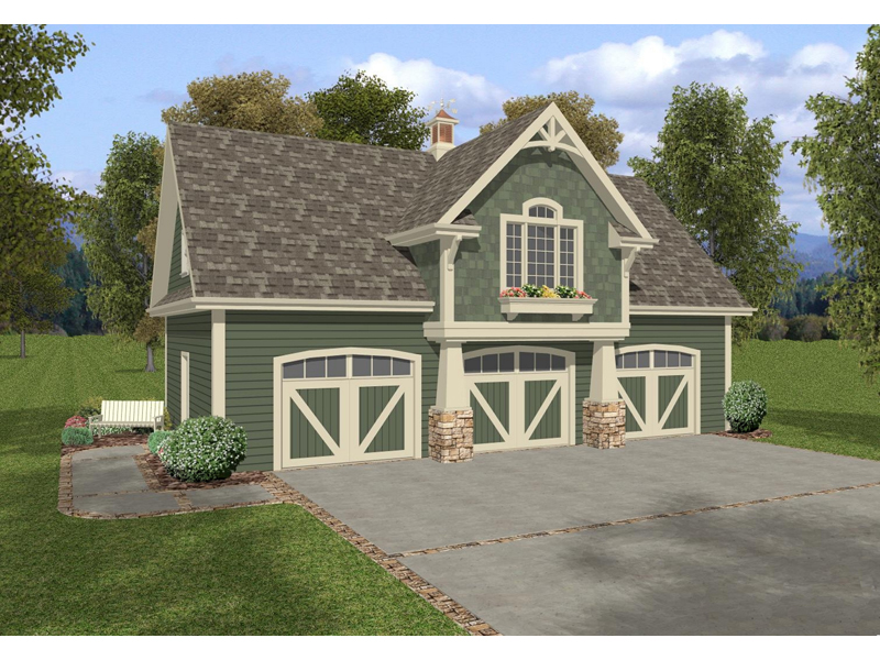 Two-Story Craftsman Style Apartment Garage With Planter Box