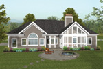 Craftsman House Plan Rear Photo 01 - 013D-0168 | House Plans and More