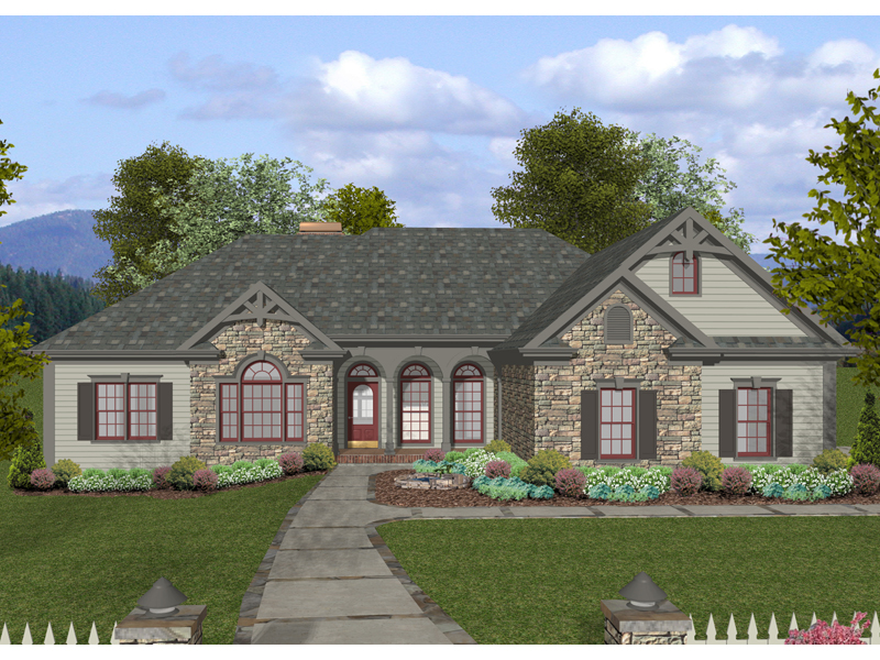 Craftsman Ranch Home Plan 013D 0169 House Plans And More
